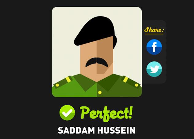 Saddam hussein icon pop quiz